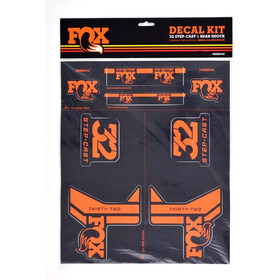 Fox Racing Shox AM Step-Cast Decal Kit, orange